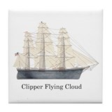 Clipper Flying Cloud Tile Coaster