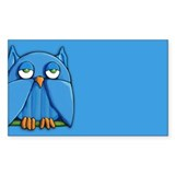 Aqua Owl aqua Decal