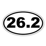 26.2 - Marathon Oval Bumper Stickers