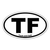 Track and Field Oval Bumper Stickers