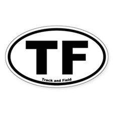 Track and Field Oval Decal