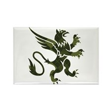Argyle Gryphon Rectangle Magnet