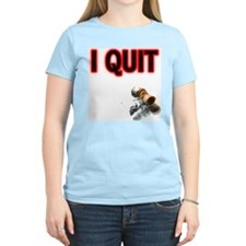 I Quit Smoking Women's Pink T-Shirt