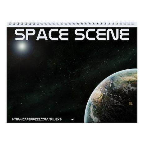 Space scene Wall Calendar