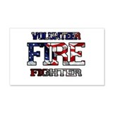 Volunteer Fire Fighter 22x14 Wall Peel