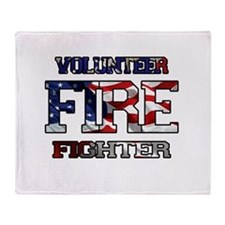 Volunteer Fire Fighter Throw Blanket