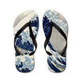 Hokusai - Kanagawa Flip Flops