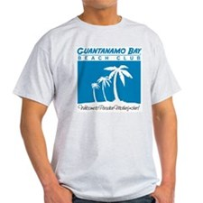 GITMO Beach Club Ash Grey T-Shirt