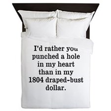 Hole in Heart Queen Duvet