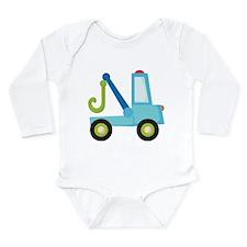Tow Truck Construction Long Sleeve Infant Bodysuit