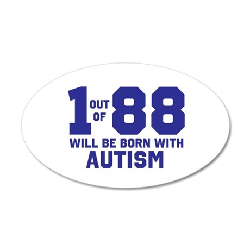 autismawareness2012 38.5 x 24.5 Oval Wall Peel