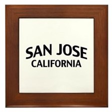 San Jose California Framed Tile