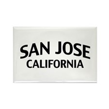 San Jose California Rectangle Magnet