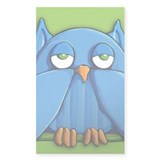 Aqua Owl green Decal