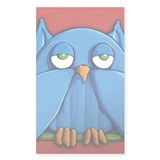 Aqua Owl red Decal
