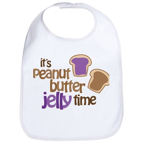 It's Peanut Butter Jelly Time Bib