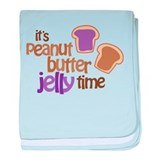 It's Peanut Butter Jelly Time baby blanket