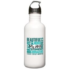 Tribute Square Ovarian Cancer Sports Water Bottle