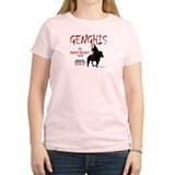 Genghis 'Kahn-tagious Tour' Women's Pink T-Shirt