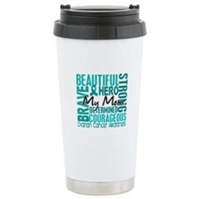 Tribute Square Ovarian Cancer Ceramic Travel Mug