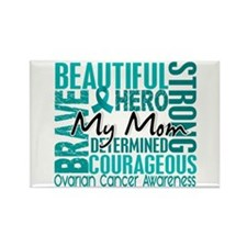 Tribute Square Ovarian Cancer Rectangle Magnet (10