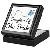 Blue Daughter of the Bride Keepsake Box
