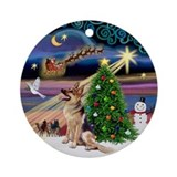 Christmas Magic German Shepherd Ornament (Round)