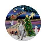 Christmas Magic German Short Hair Ornament (Round)