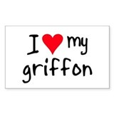 I LOVE MY Griffon Decal