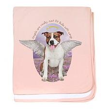 Pit Bull Angel baby blanket