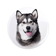 "Alaskan Malamute 3.5"" Button (100 pack)"