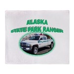 Alaska State Park Ranger Throw Blanket
