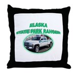 Alaska State Park Ranger Throw Pillow