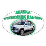 Alaska State Park Ranger Sticker (Oval)