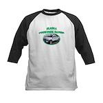 Alaska State Park Ranger Kids Baseball Jersey