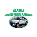 Alaska State Park Ranger 38.5 x 24.5 Wall Peel