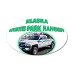 Alaska State Park Ranger 38.5 x 24.5 Oval Wall Pee
