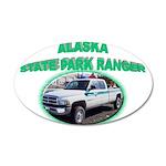Alaska State Park Ranger 22x14 Oval Wall Peel