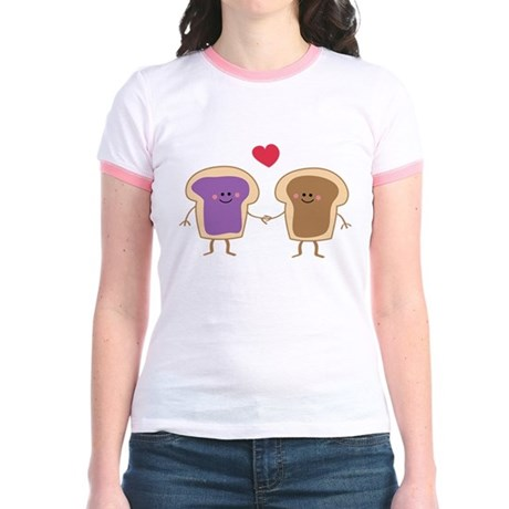 Peanut Butter Loves Jelly Jr. Ringer T-Shirt