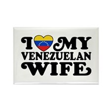 I Love My Venezuelan Wife Rectangle Magnet