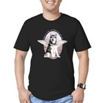 Malamute Angel Men's Fitted T-Shirt (dark)