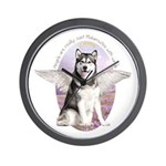 Malamute Angel Wall Clock