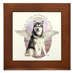 Malamute Angel Framed Tile