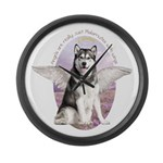 Malamute Angel Large Wall Clock