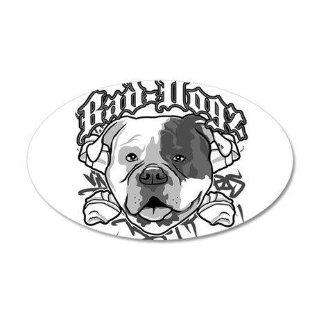 AMERICAN BULLDOG 38.5 x 24.5 Oval Wall Peel