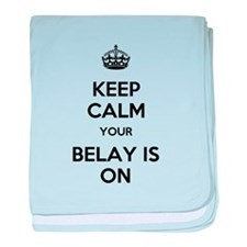 Keep Calm Belay is On baby blanket