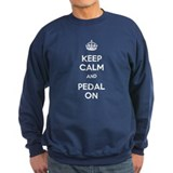Keep Calm and Pedal On Sweatshirt