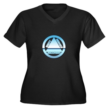 AA08 Women's Plus Size V-Neck Dark T-Shirt