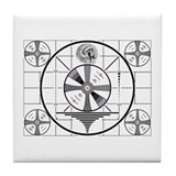 1950's TV Test Pattern Tile Coaster
