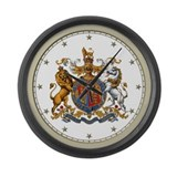 British Royal Crest Large Wall Clock
